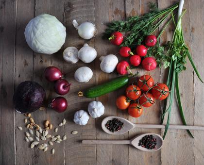 Fruits, légumes et herbes aromatiques