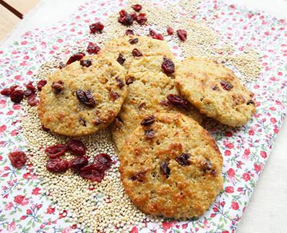 Cookies quinoa-cranberries
