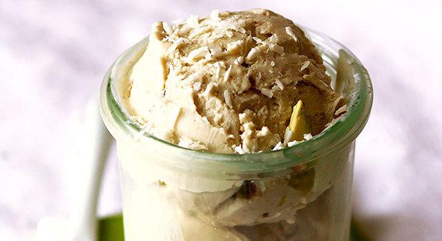 Crème glacée pistache & coco