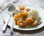 Abricots rotis et chantilly au reblochon