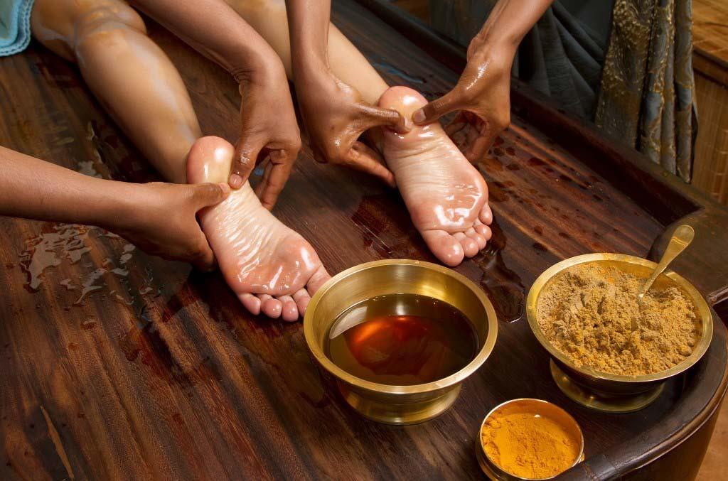 Massage indien des pieds