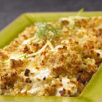 Un gratin végétarien au chèvre et au quinoa