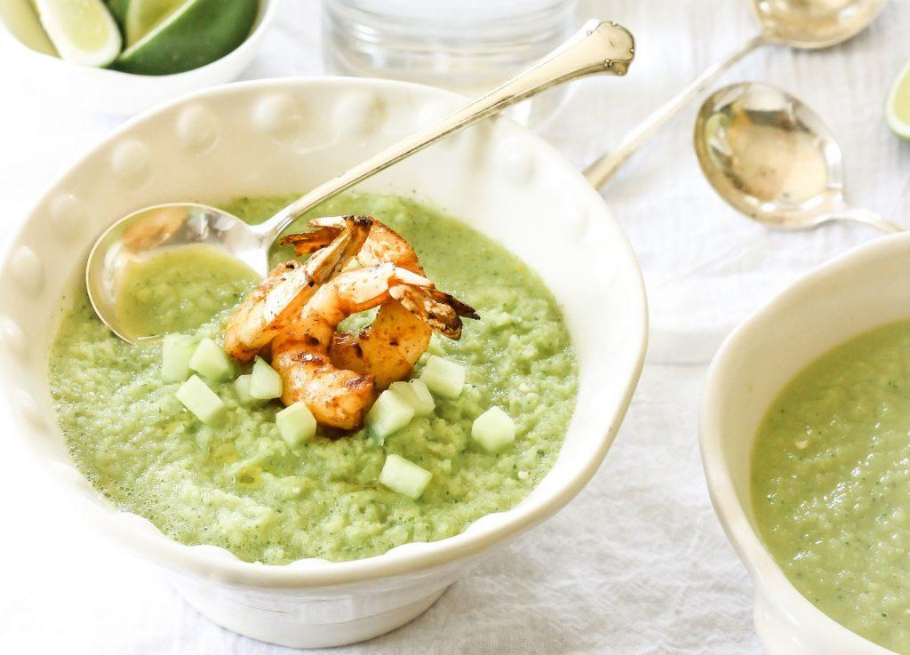 Une délicieuse soupe verte