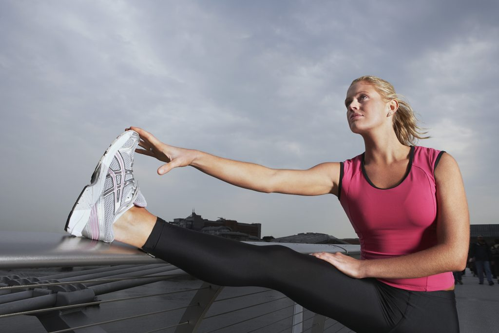 Femme qui fait du sport pour son bien-être